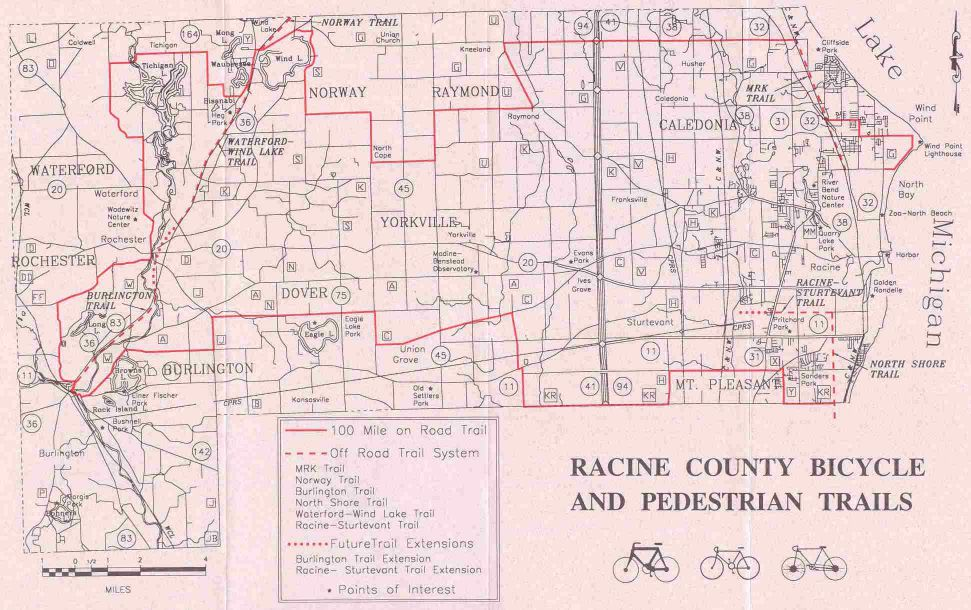 Racine County Trails: Map Of Racine County At Slyspyder.com
