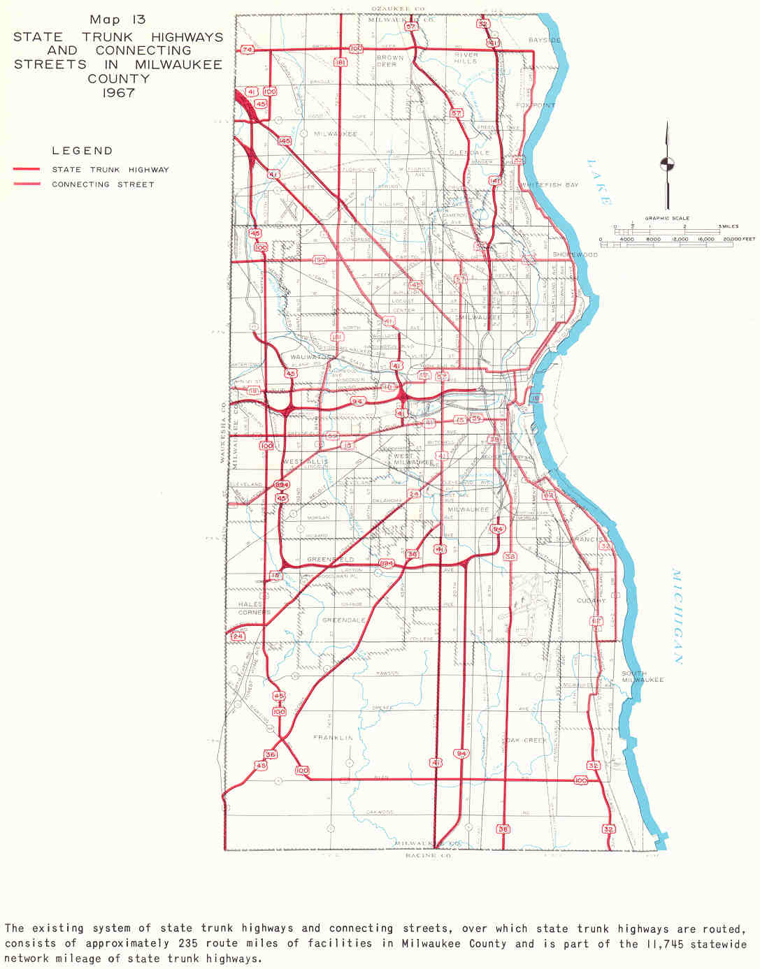 Milwaukee State Map.Books And Sewrpc Reports